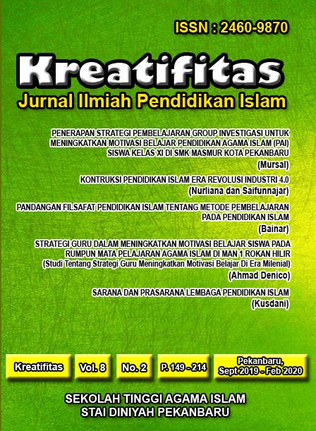 Kreatifitas: Jurnal Ilmiah Pendidikan Islam